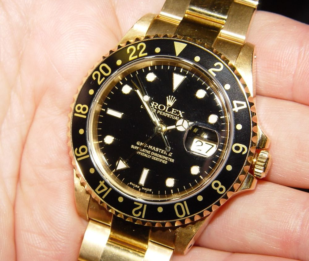Gold Rolex gmt-master watches replica