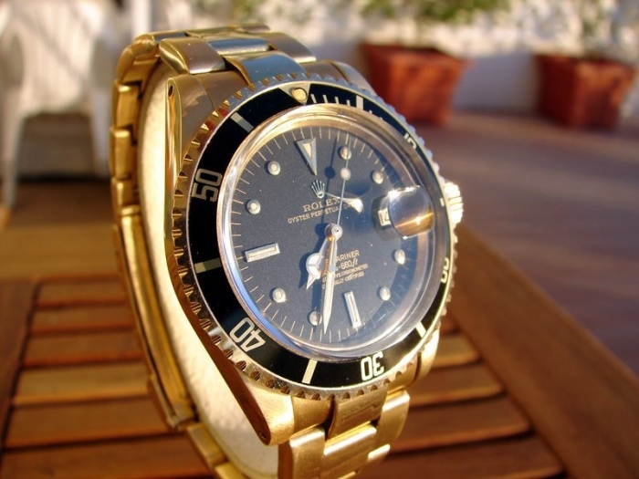 Yellow Gold Rolex Submariner Watch Replica