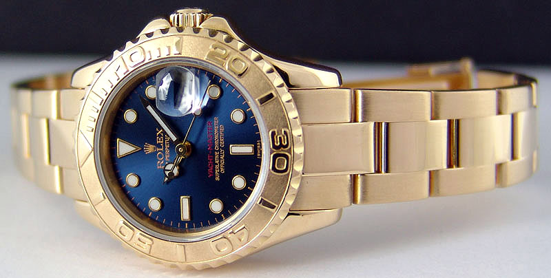 Yellow gold rolex yachtmaster 35mm replica watches