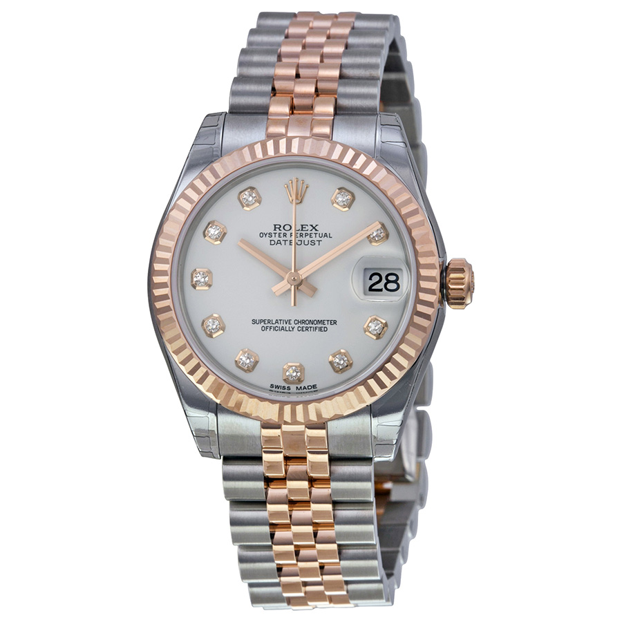 rose gold ladies rolex datejust replica watch
